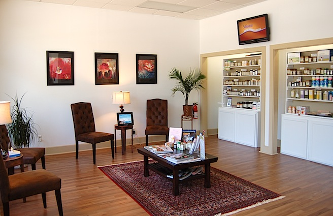 Waiting room of Absolute Wellness Center in Mt Pleasant, SC