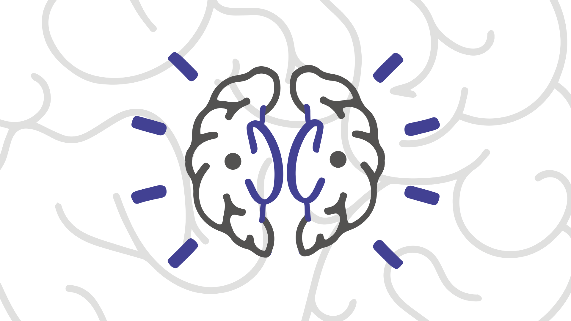 brain image over brain enlargement