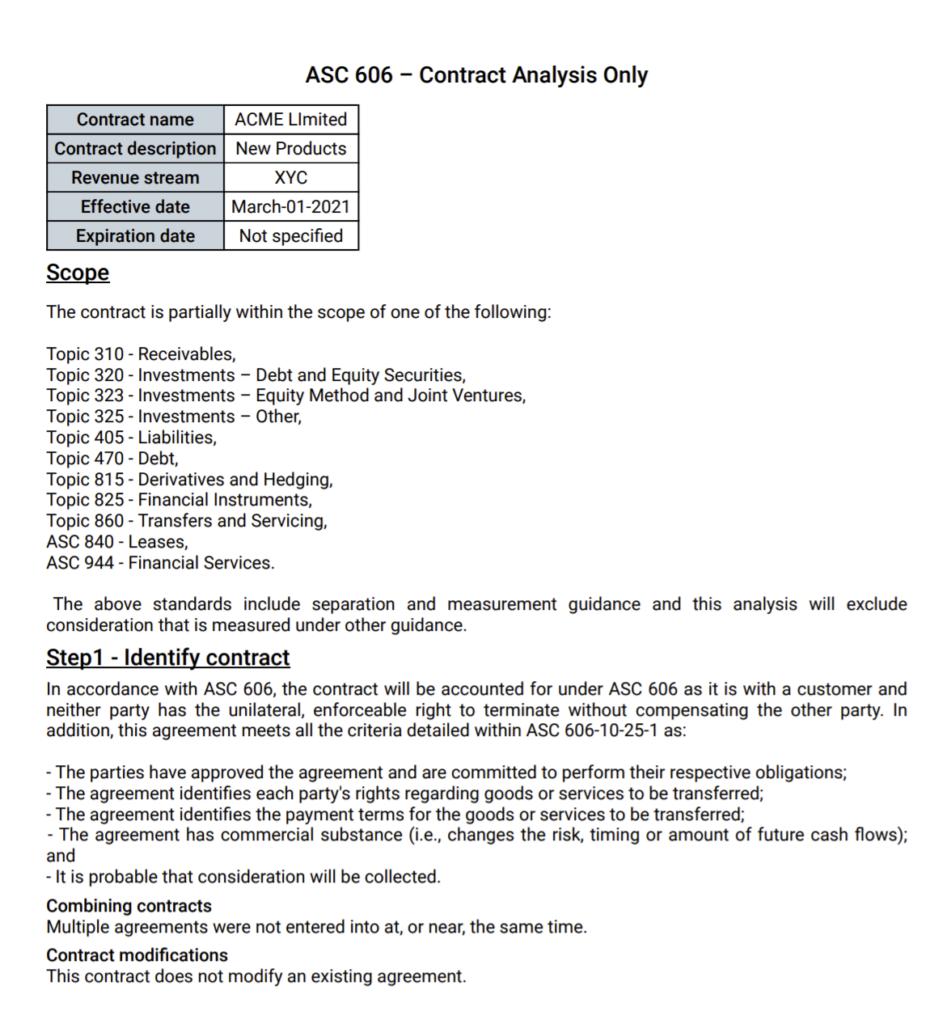 ASC 606 pdf report