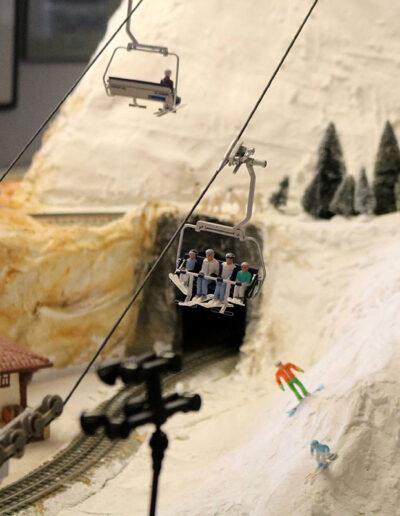 model railroad ski lift
