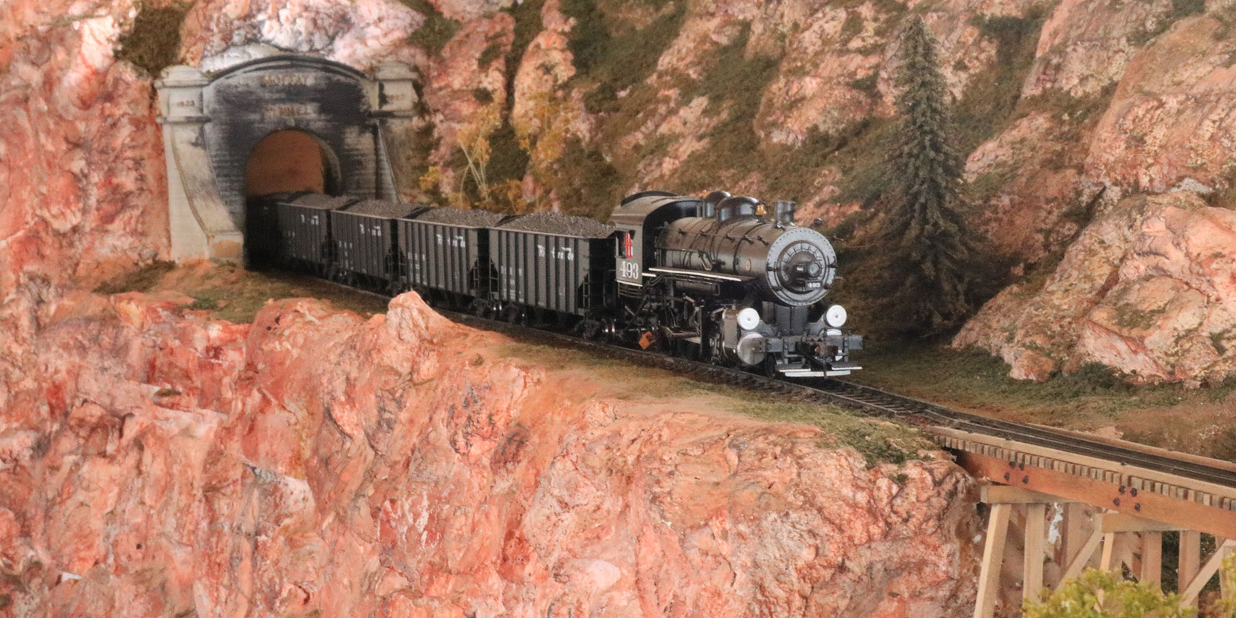 model railroad coming out of the moffat tunnel