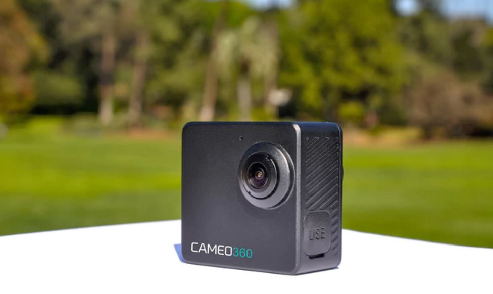 Cameo360 is the world's smallest waterproof 4K dual-lens 360-degree camera