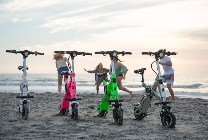 Foldable e-bike X1 Explorer can go up to 37 miles per hour and can fold in less than a second