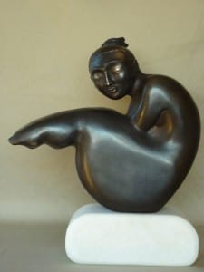 Sculptor Zygmunt Libucha at Manly Harbour Gallery