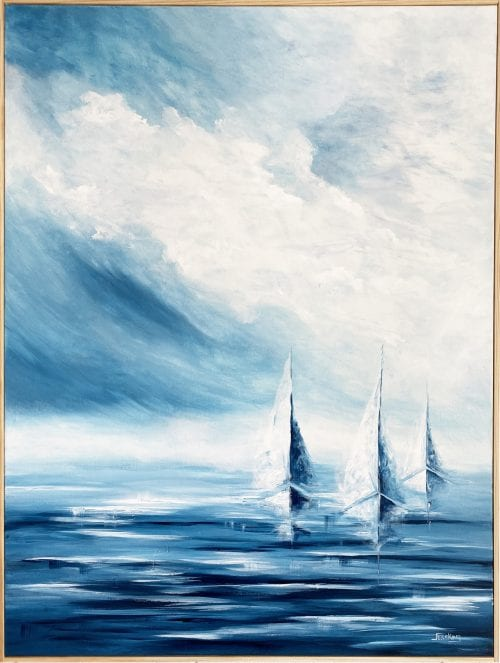 Perfect day for sailing by Jess King