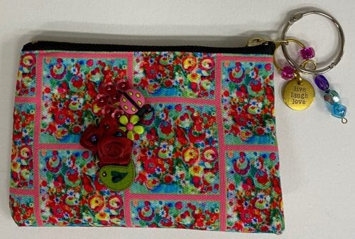 Floral Explosion small pouch by Amanda Slater