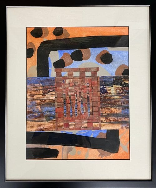 Kate Bray Ionian Vestiges gouache oil pencil and collage $895