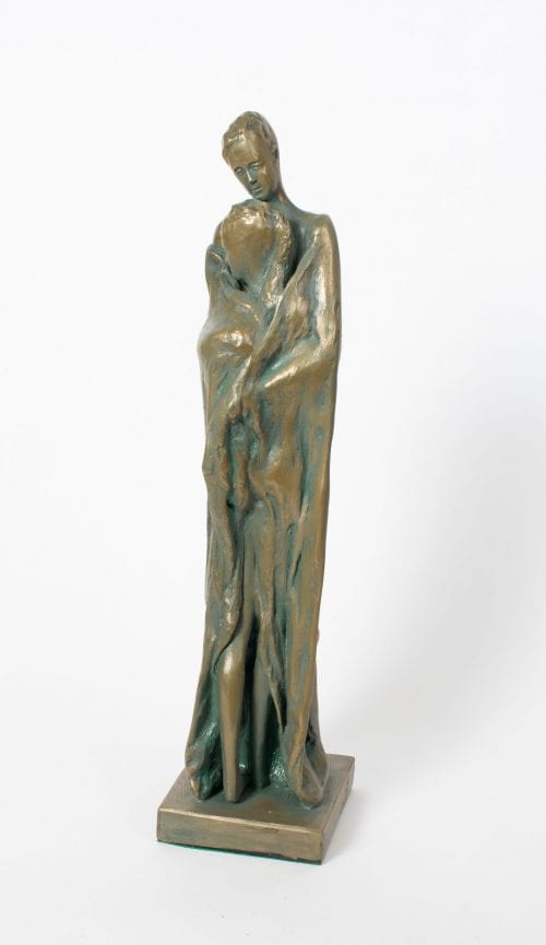 Keep Me Warm Cold Cast Bronze by Denise Murray 35x8x10cm