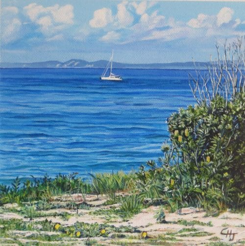 Clouds over Moreton for sale at Manly Harbour Gallery