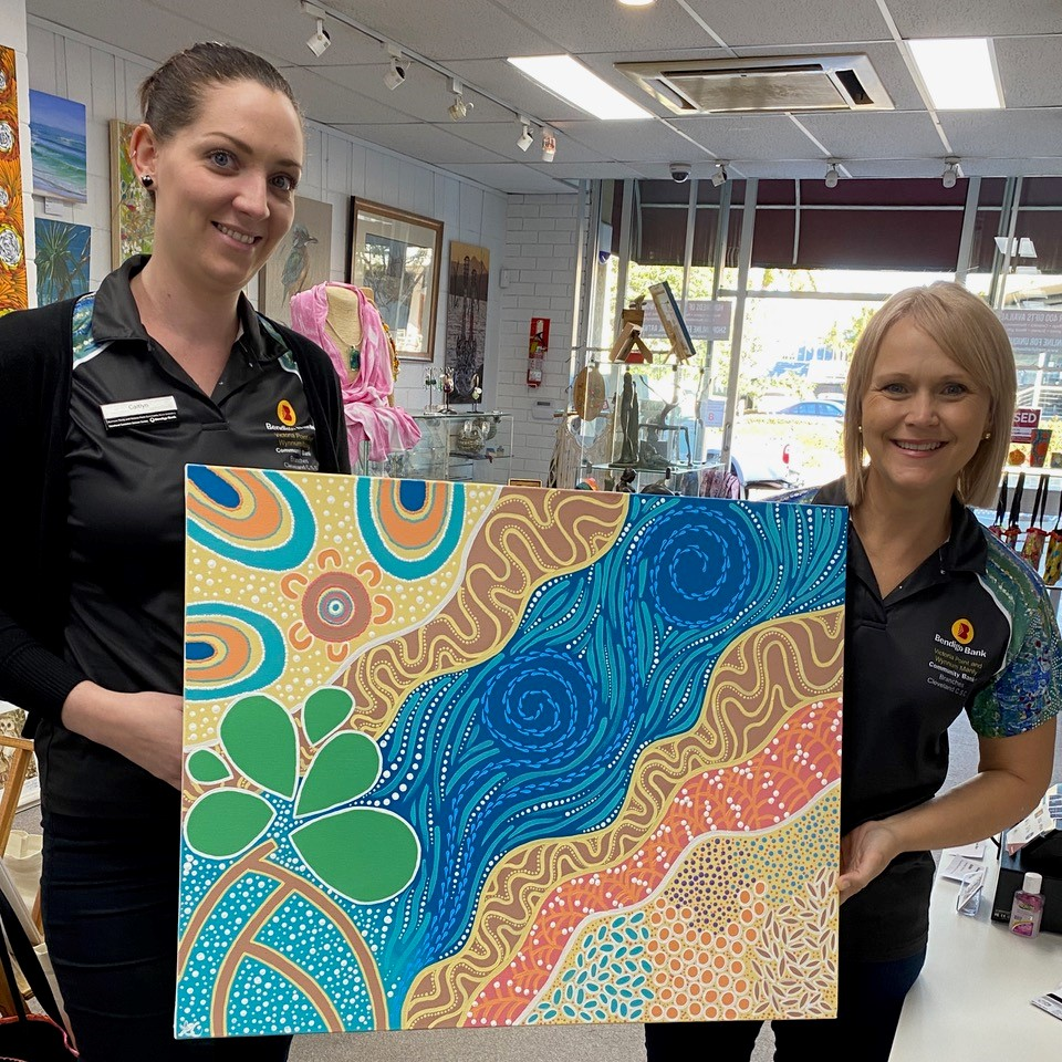 Bendigo Bank purchased Alicia Close painting - investing in Art