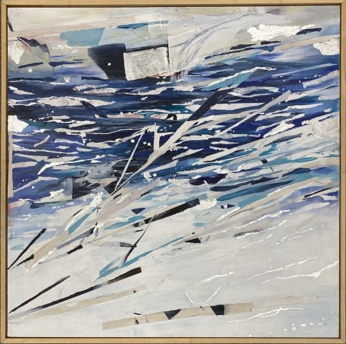 Silver Tides by Theresa Rule 800 x 800 x 40 $900