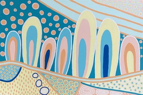 Alicia Close - Our Ancestors 61 x 91cm Acrylic on stretched canvas