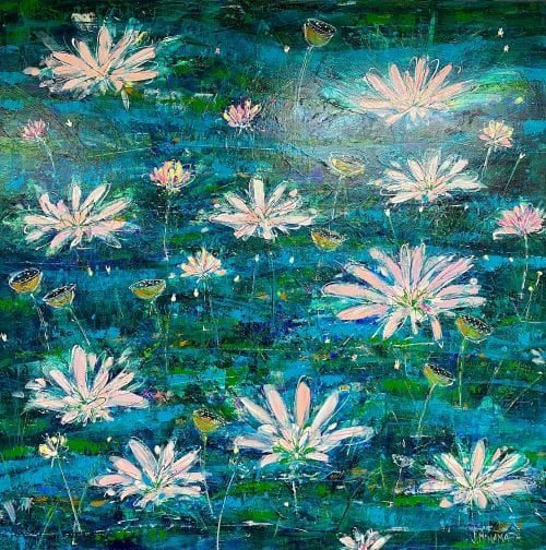 Lily Pond in Bloom $1500 122x122