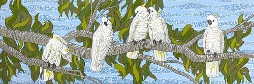 Morning Greeting 122 x 41 by Sandra Temple $850 at Manly Harbour Gallery