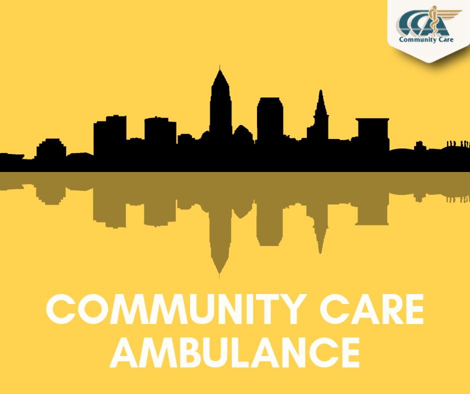 Community Care Ambulance Cleveland Skyline