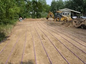Drip irrigation lines