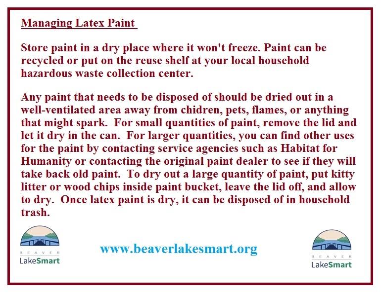 Managing Latex Paint