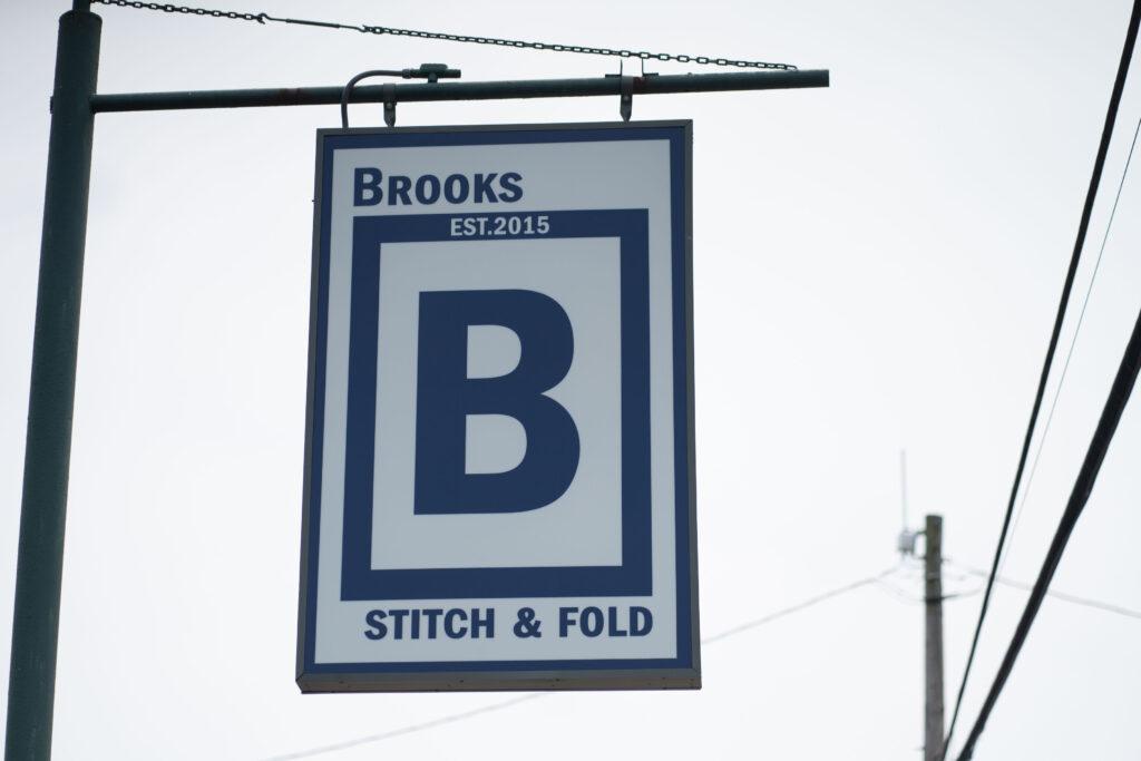 Brooks Stitch & Fold - Exterior Sign