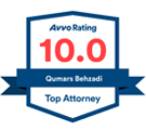 AVVO Rating Label | Las Vegas Personal Injury Lawyer | Behzadi Law Offices