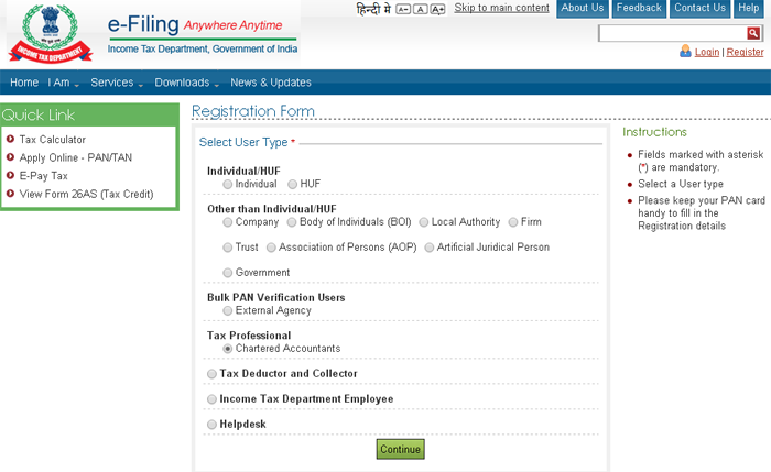 e-filing section 44AB tax audit report