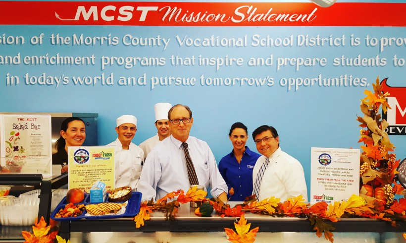 NJ Secretary of Agriculture Celebrates Farm to School Week with Morris County Vo Tech!