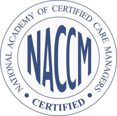 NACCM certified logo