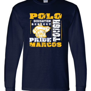 Polo School DryBlend 50/50 Long Sleeve T-Shirt