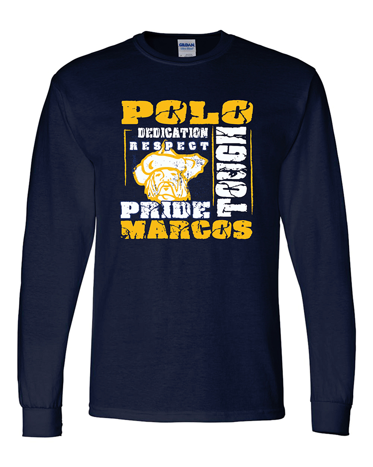 Polo School DryBlend 50/50 Long Sleeve T-Shirt
