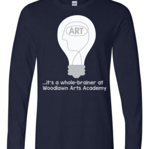 Woodlawn Arts Whole-Brainer LS T-Shirt