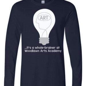 Woodlawn Arts Whole-Brainer LS T-Shirt