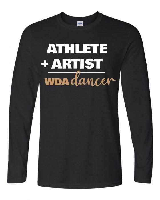Woodlawn Dance Athlete Artist LS T-Shirt