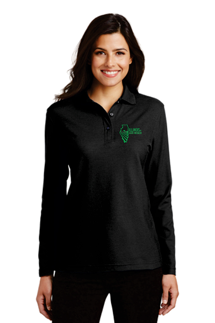 Illinois Agri Women Long Sleeve Polo