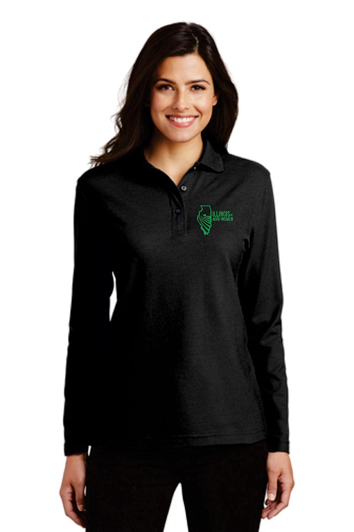 Illinois Agri Women Long Sleeve Polo