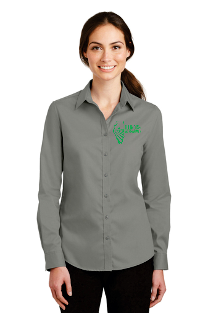 Illinois Agri Women Button Up Shirt
