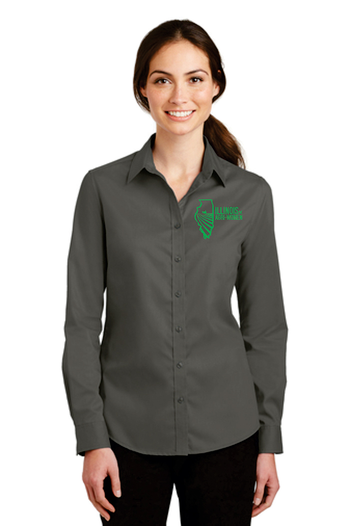 Illinois Agri Women Button Up Shirt