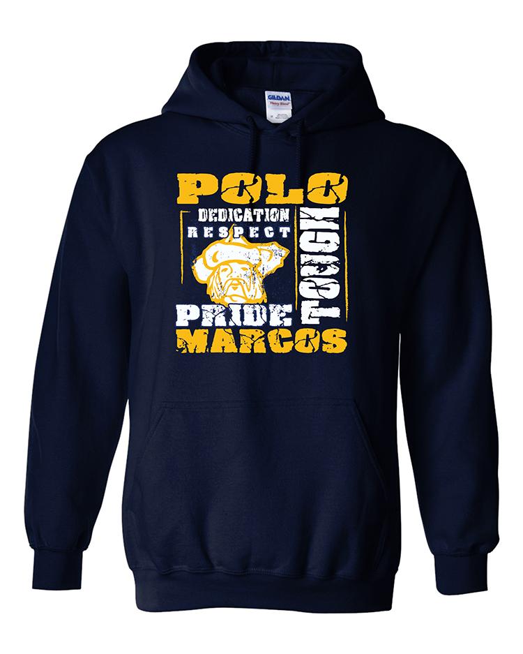 Polo School Heavy Blend Hooded Sweatshirt