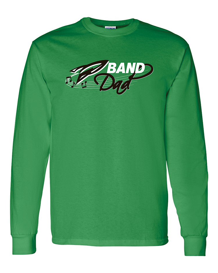 Rock Falls Music Long Sleeve Dad T-Shirt