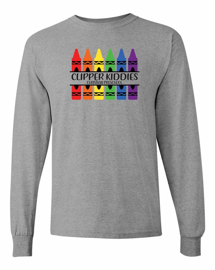Amboy Clipper Kiddies Crayon LS T-Shirt