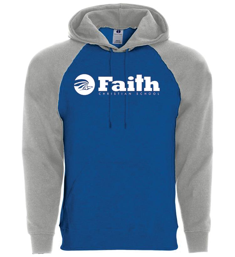 Faith Christian Raglan 50/50 Hoodie
