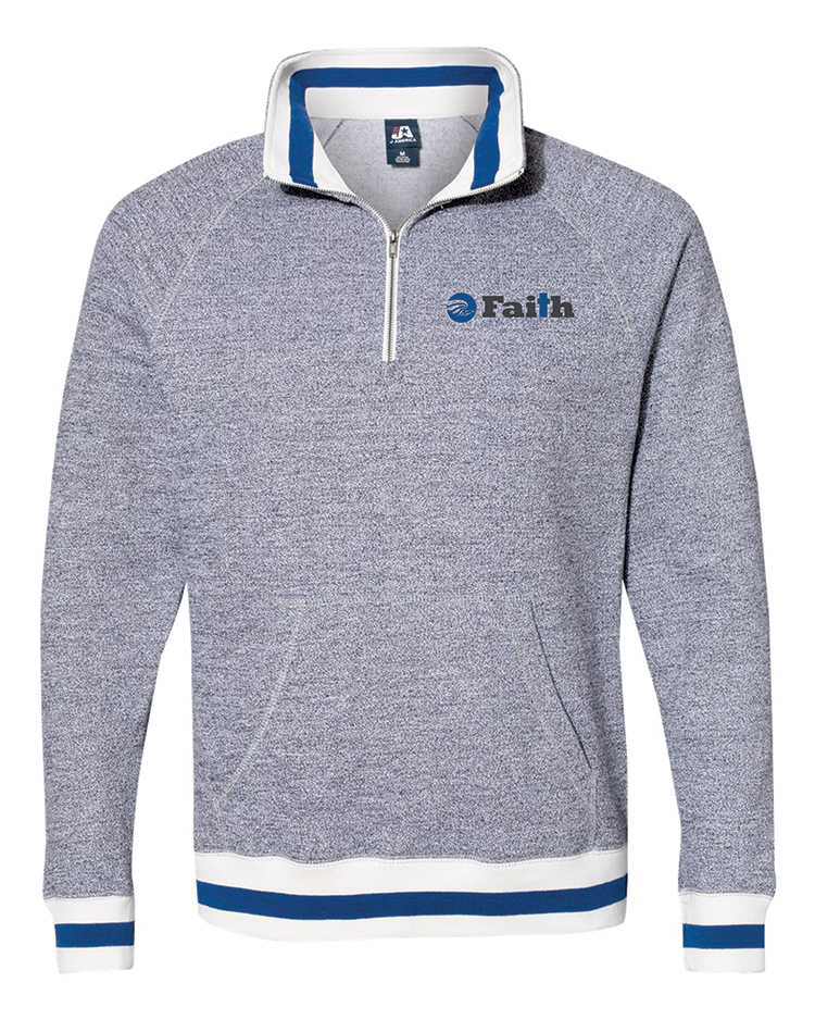 Faith Christian Peppered 1/4 Zip