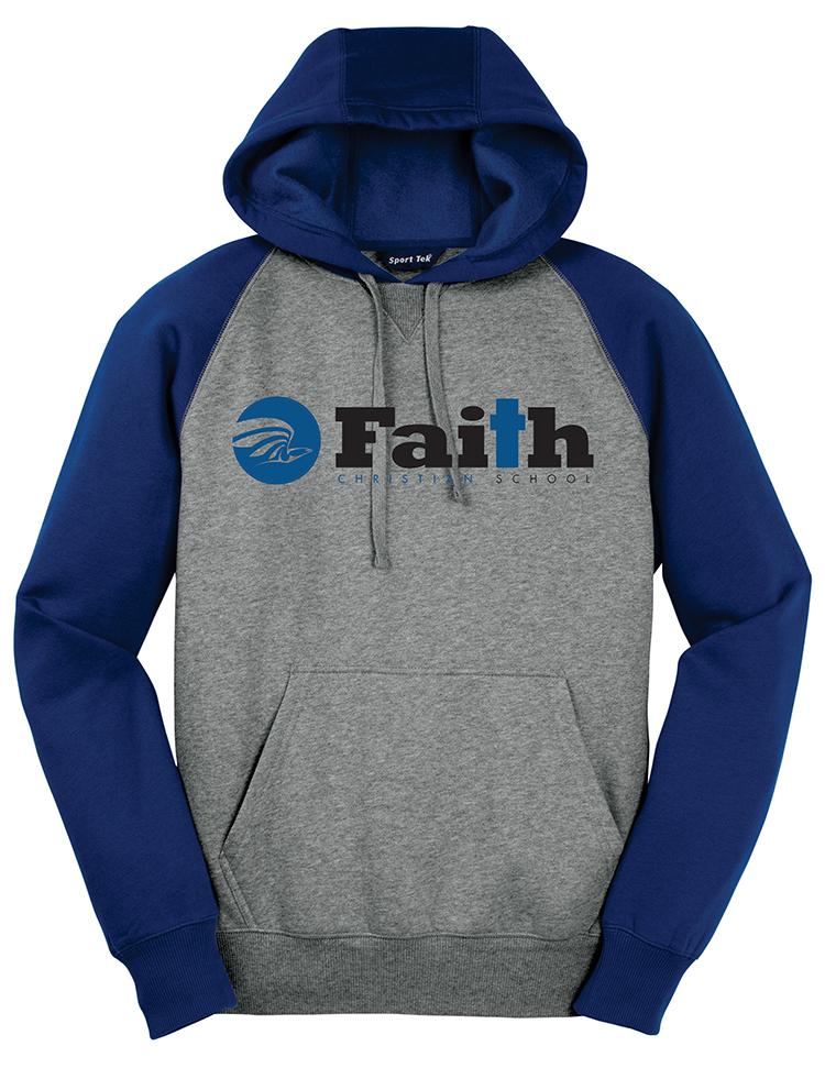 Faith Christian Raglan Sportek Hoodie
