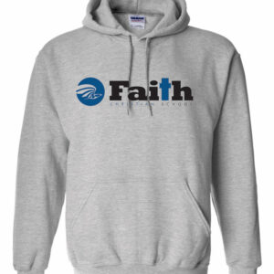 Faith Christian Sport Grey Hoodie