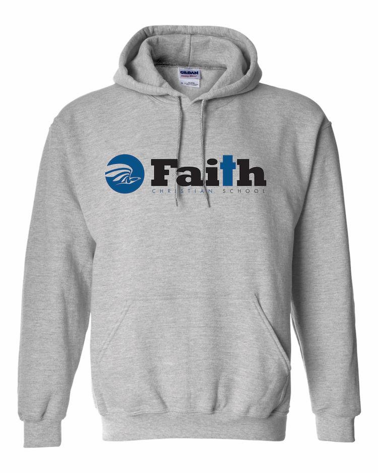 Faith Christian Sport Grey Hoodie