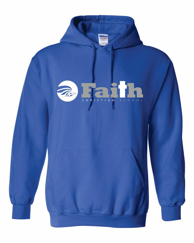 Faith Christian Royal Blue Hoodie
