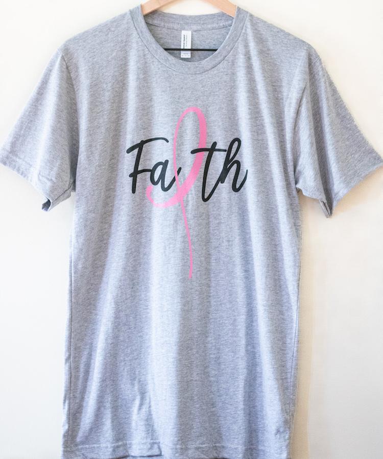Faith Breast Cancer T-Shirt