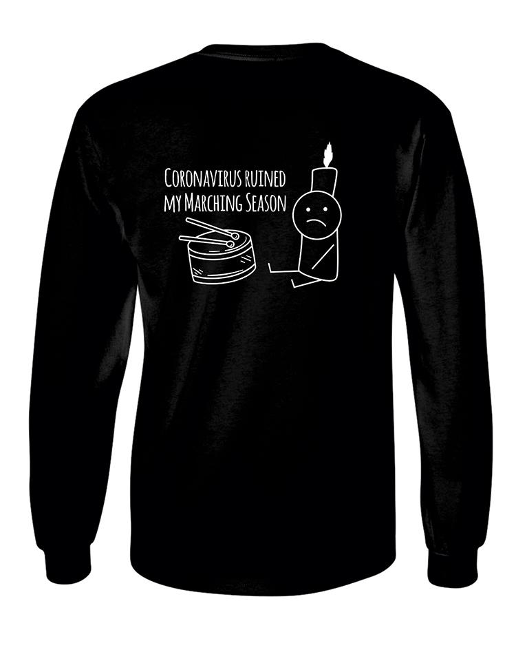 Rock Falls Marching Coronavirus LS T-Shirt