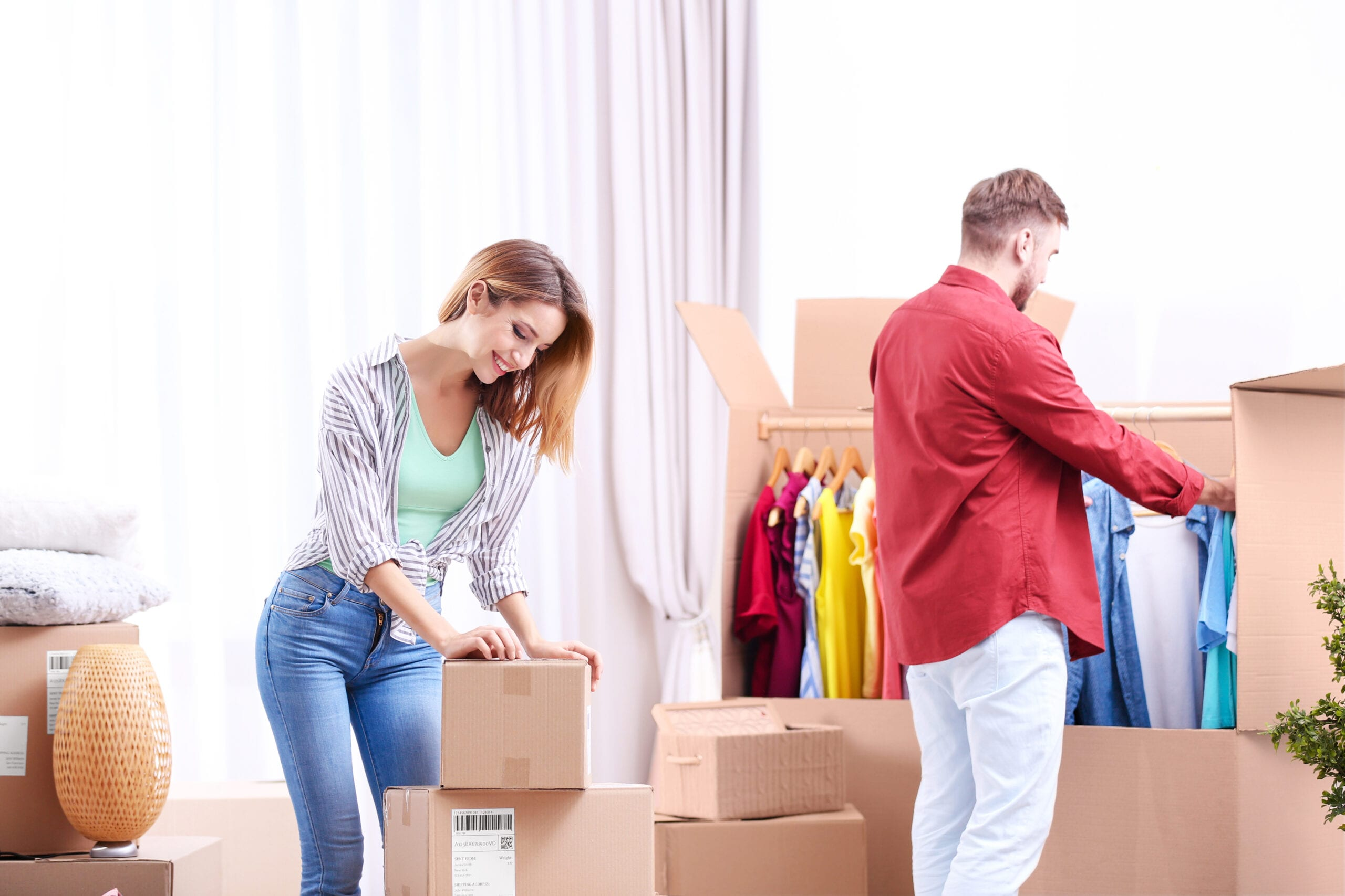 How to pack clothes for move