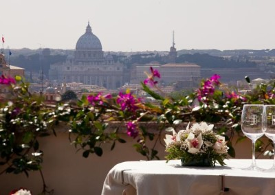 Mediterraneo rooftop view-Rome