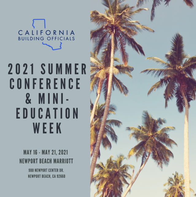 California Building Officials Summer Conference & Mini-Education Week