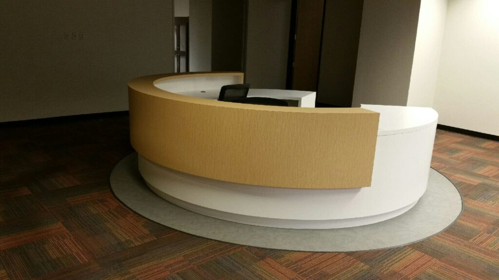 Custom Reception desk in commercial millwork